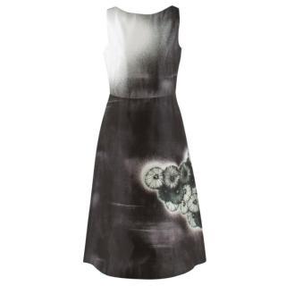Prada Special Edition Bi-Colour Printed Silk Dress