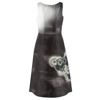 Prada Special Edition Bi-Colour Printed Silk Dress