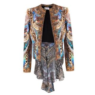 Camilla Embellished Lightweight Tail-Hem Jacket