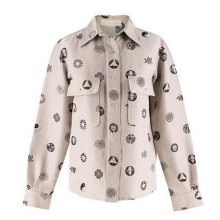 Stella McCartney Beige Symbol Print Shirt