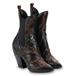 Louis Vuitton Fireball Leather Ankle Boots - Current Season