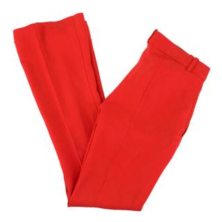 Versace Red Bootcut Trousers