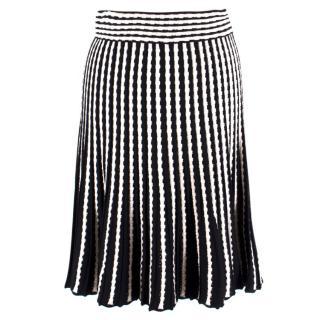 M Missoni Black & White Striped Skirt