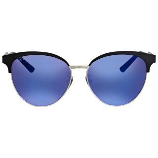 Gucci Cat Eye Blue Mirror Sunglasses