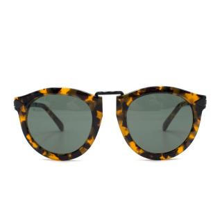 Karen Walker Harvest Crazy Tort Round-Frame Sunglasses