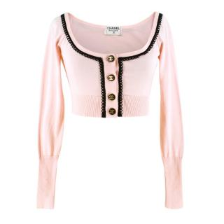 Chanel Loop-Trimmed Cropped Cardigan