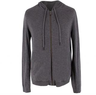 Zadig and Voltaire Zip-Through Hooded Cotton Sweatshirt