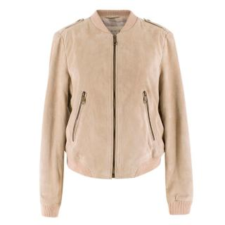 Burberry Brit Sand Suede Bomber Jacket