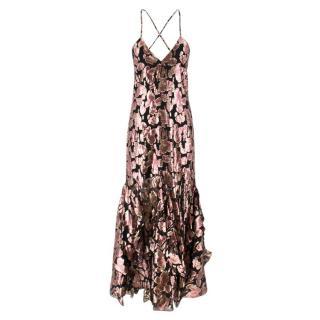 Alice McCall Black Shine Floral Maxi Dress