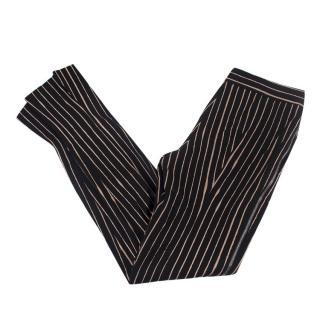 Alexander McQueen Black Pinstripe Trousers