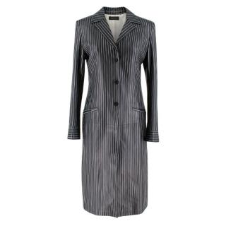 Gucci Vintage Pinstripe Leather Coat