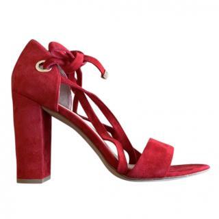 Diane von Furstenberg Red Calabar Sandal