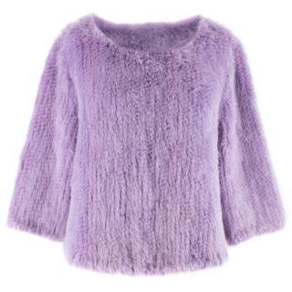 Bespoke Purple Mink Fur Jumper