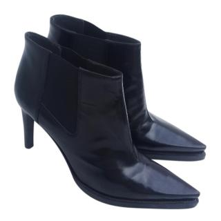 Miu Miu point-toe leather ankle boots