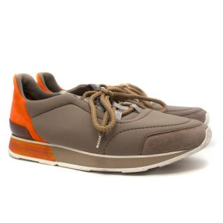 Hermes Men�s Miles Low-Top Sneakers