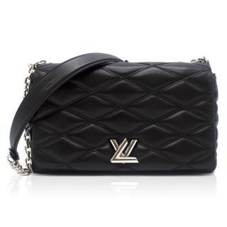 Louis Vuitton Medium Black Leather Twist MM Bag