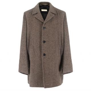Dries Van Noten Brown Tweed Coat