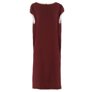 Marni Burgundy Oversized Dress