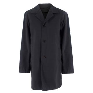 Prada Grey Wool Overcoat