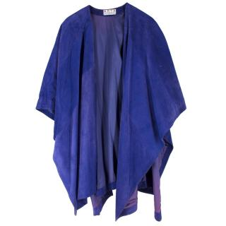 Anya Hindmarch Purple Suede Cape