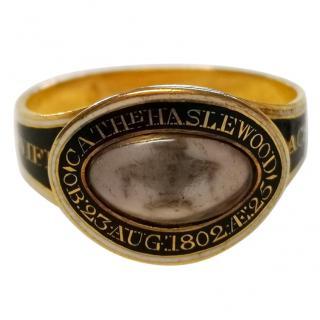 Bespoke Antique Enamel Stack Ring 18ct Gold
