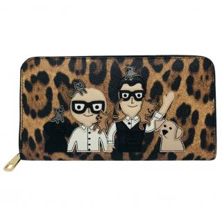 Dolce & Gabbana designers print leather wallet