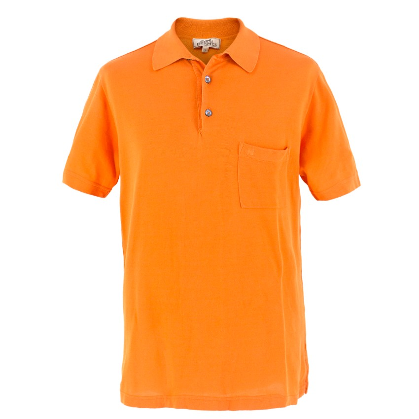 Hermes Orange Polo Shirt