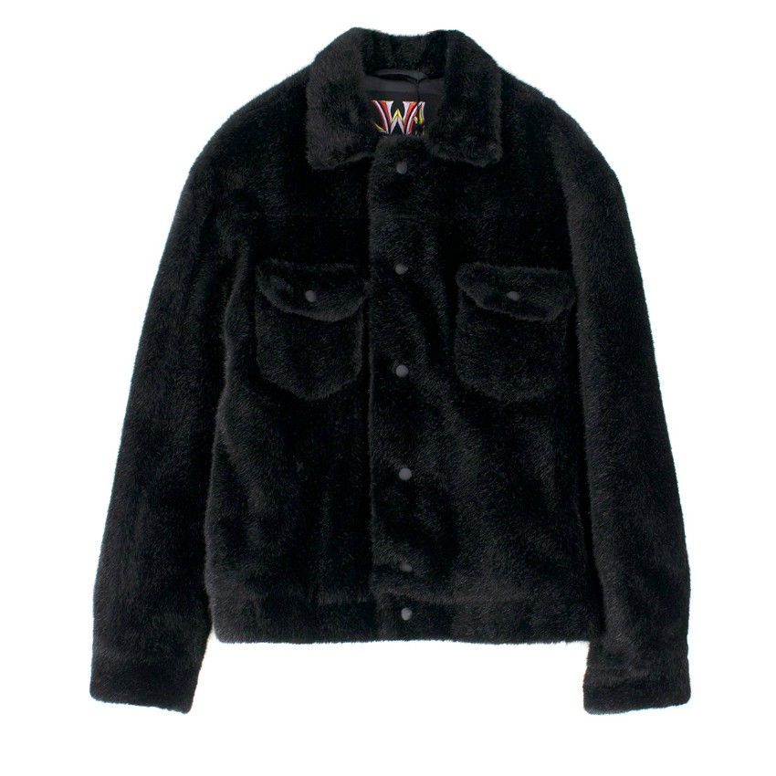 JW Anderson X Asap Rocky And Awge Teddy Fur Jacket