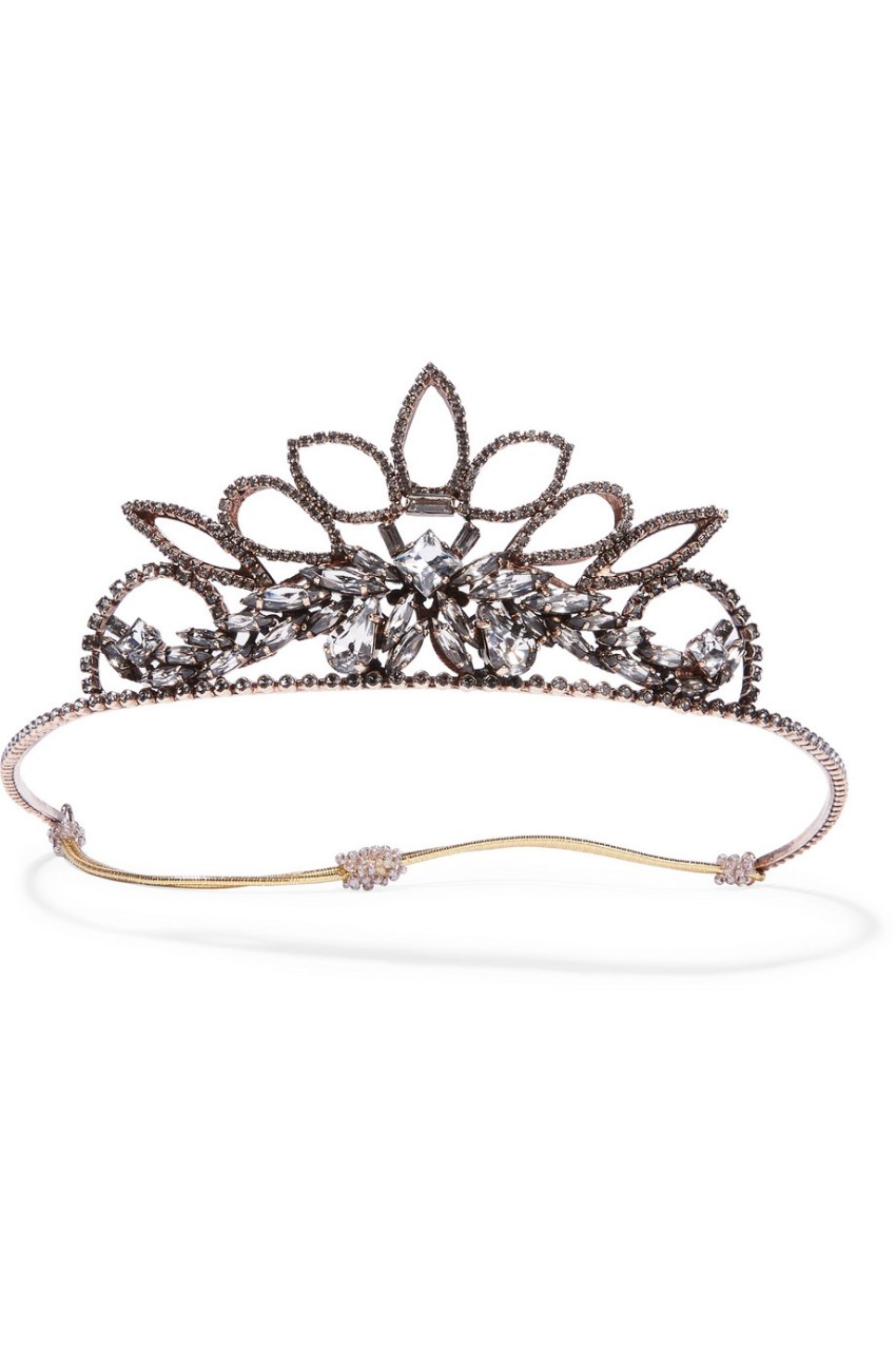 Ericsson Beaumon Princess rose gold-plated crystal headband