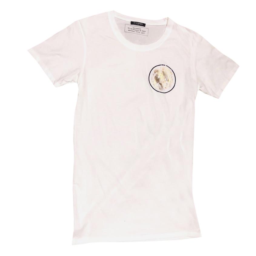 Balmain white Mens T Shirt
