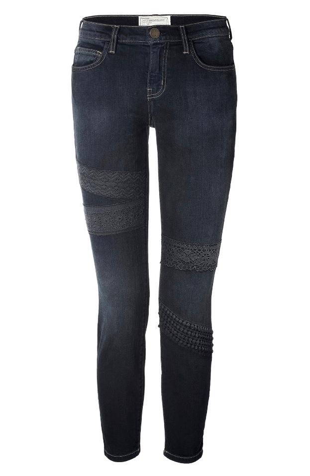 Current Elliott The Stiletto Jeans With Lace