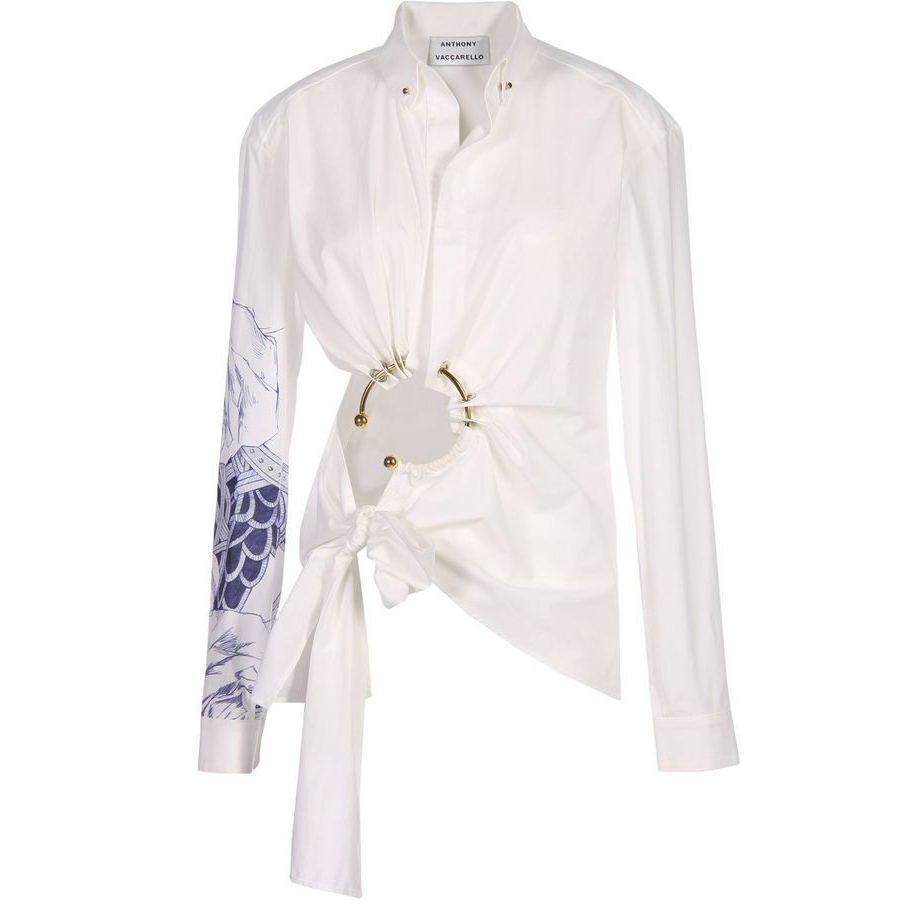 Anthony Vaccarello cut-out ring shirt