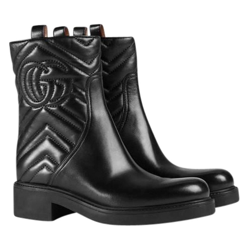 Gucci quilted-leather biker boots