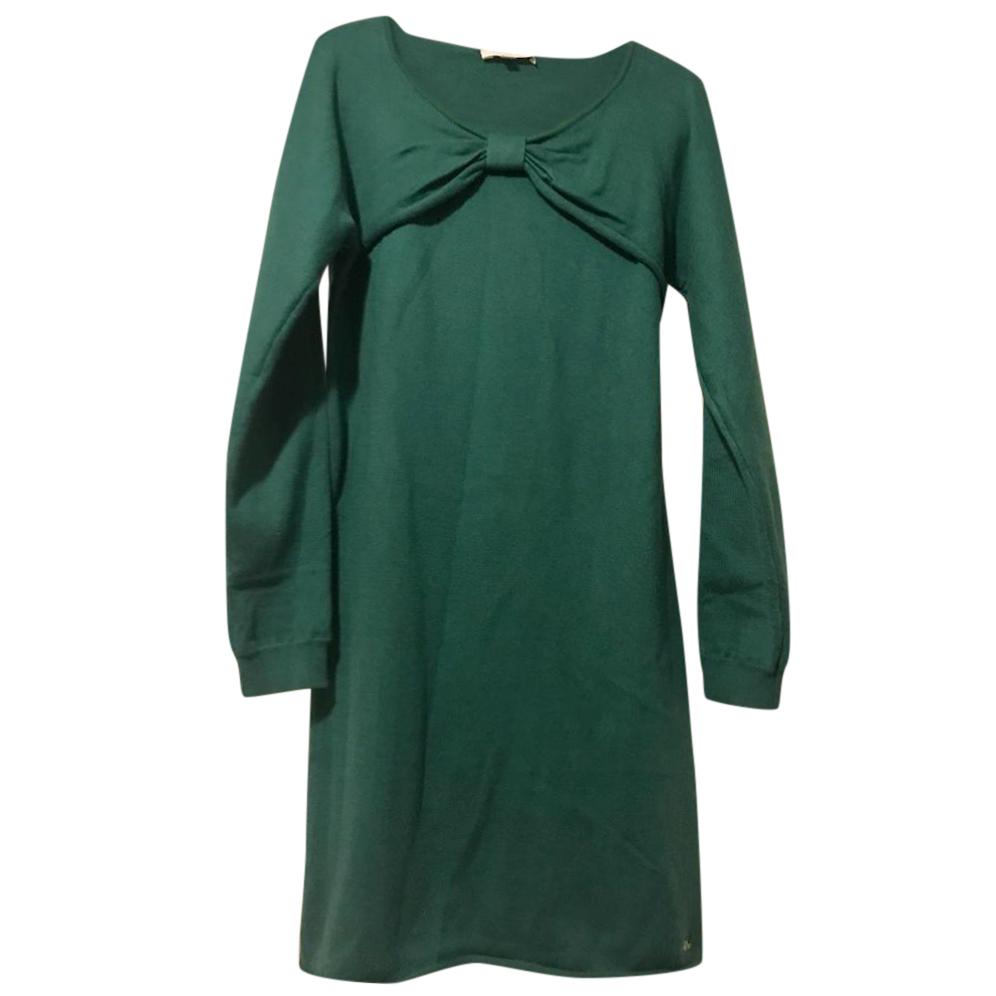 Chloe Knot-Front Wool Dress