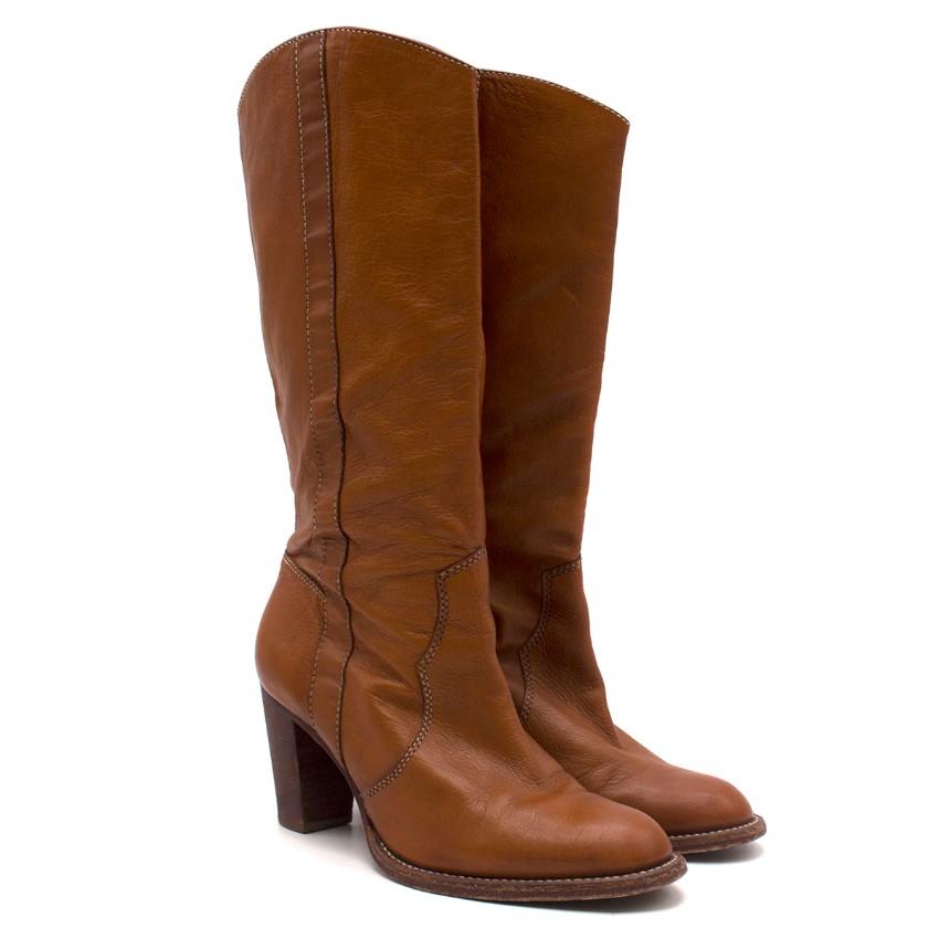 Michael Michael Kors Brown Leather Heeled Calf Boots