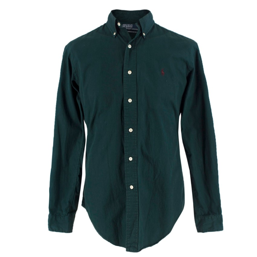 Polo By Ralph Lauren College Green Classic Fit Oxford Shirt