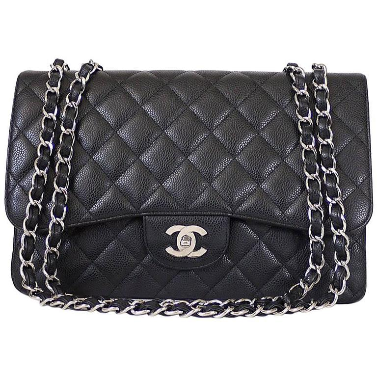 578f34602c19 Chanel Caviar Leather Timeless Double Flap Bag   HEWI London