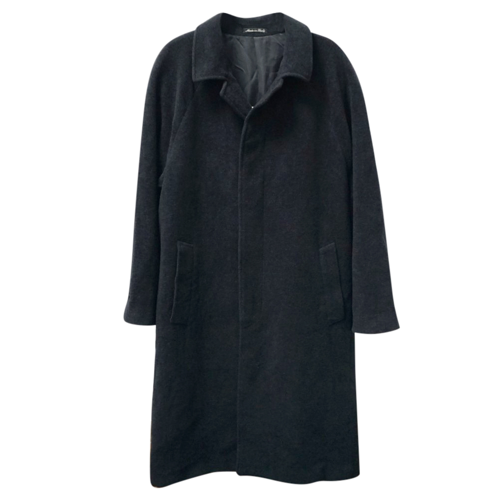 GIORGIO ARMANI Le Collezioni Mens Grey Wool Long Coat