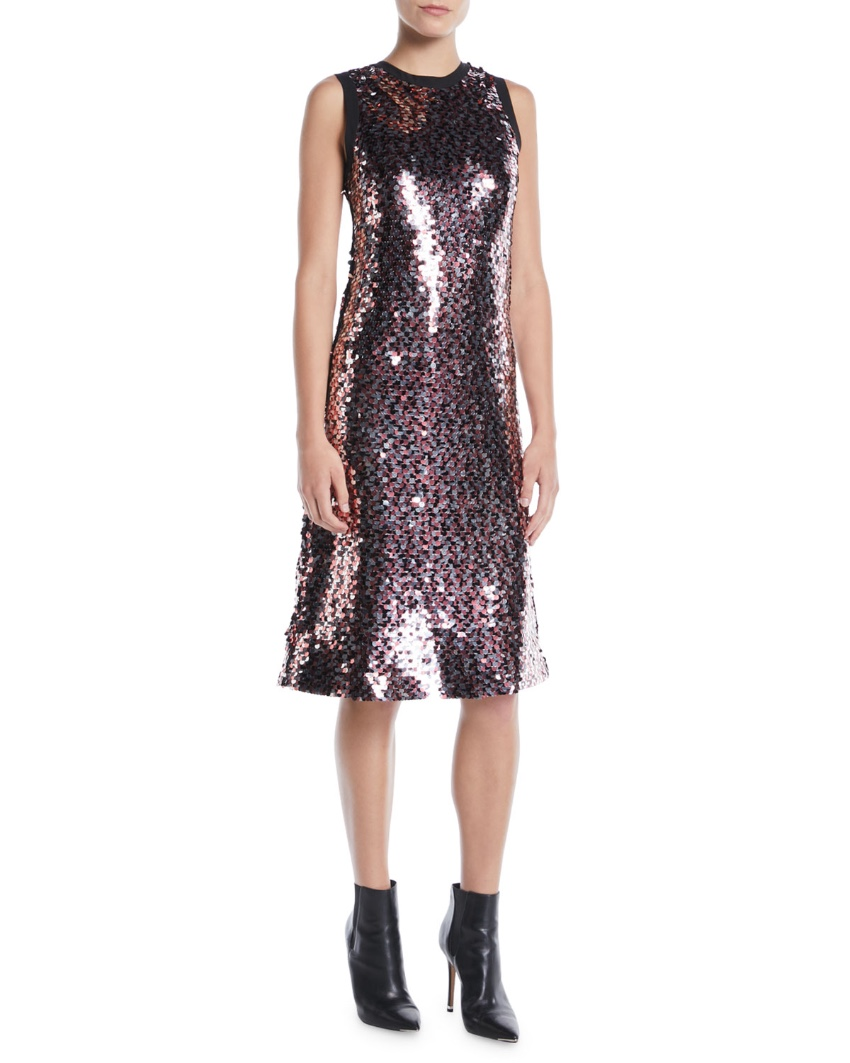 McQ sequin-embellished sleeveless dress