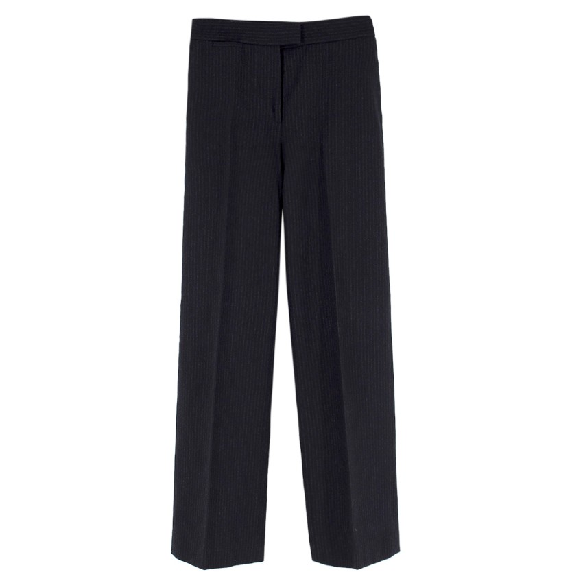 Joseph Wool & Cashmere-blend Pinstripe Wide Leg Trousers