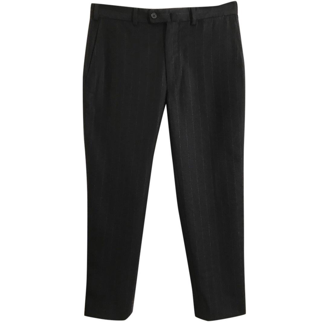 Bamford & Sons black Loro Piana wool & cashmere trousers