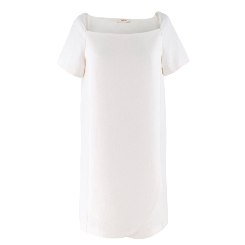 Ba&Sh square-neck cream t-shirt dress