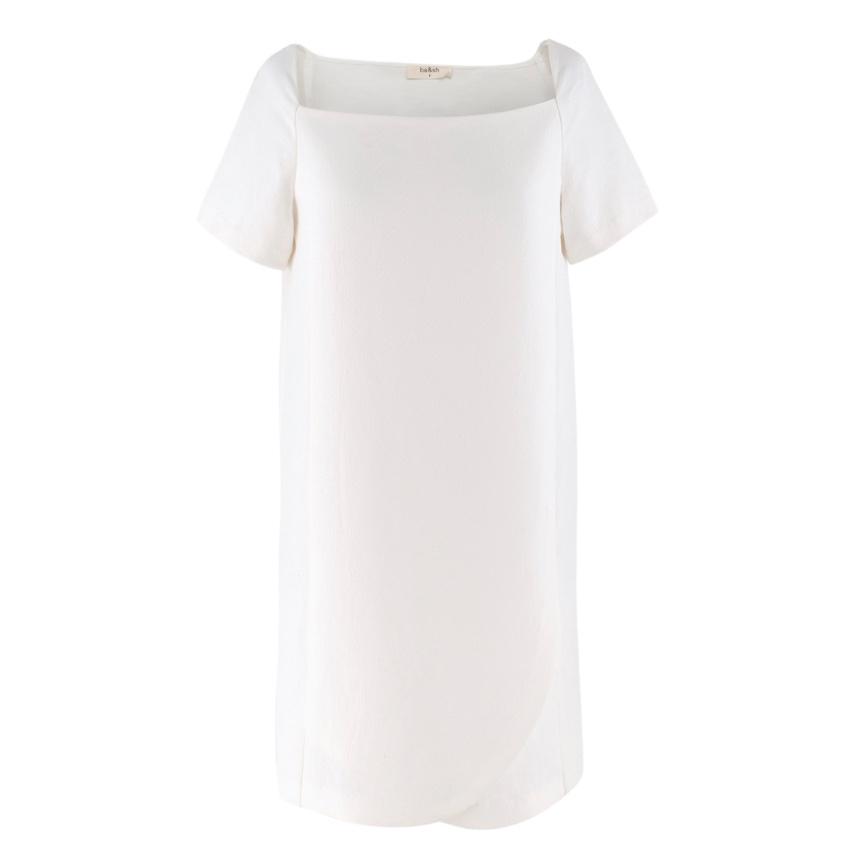 Ba&Sh square-neck cream t-shirt dress