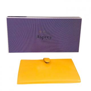 Asprey Yellow Leather Wallet