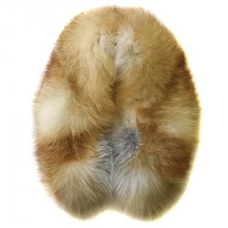 Bespoke fox fur collar