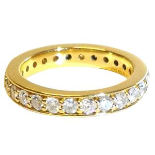 Bespoke 18ct Yellow Gold Full Diamond Eternity Ring 1.70ct