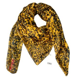 Sonia by Sonia Rykiel large printed wool blend scarf