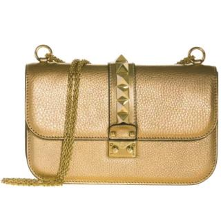 Valentino Rockstud gold shoulder bag