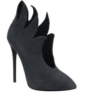 Giuseppe Zanotti flame-edge black suede ankle boots