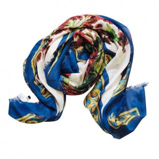 Dolce & gabbana Sicily maiolica vase print scarf